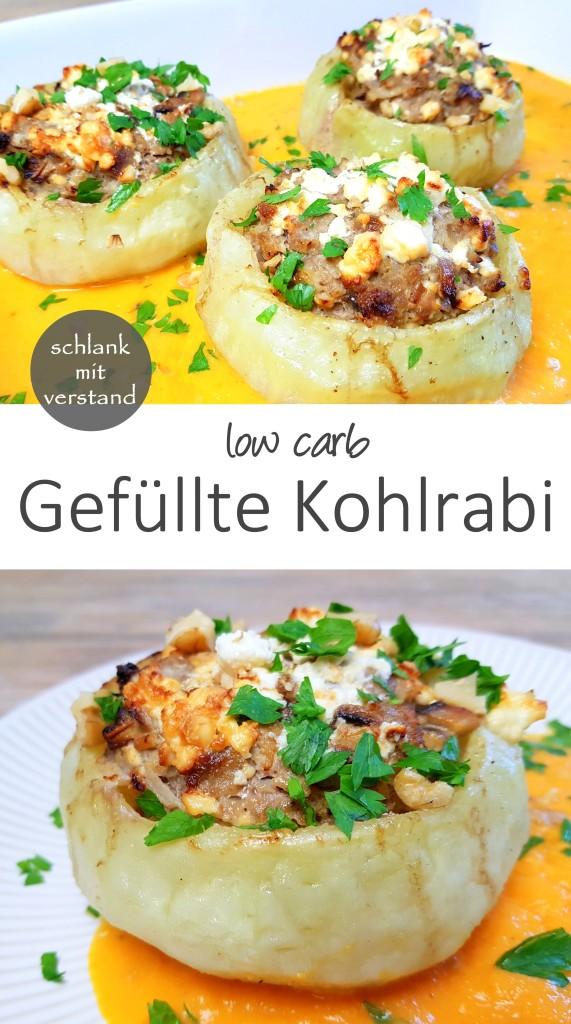 low carb Gefüllter Kohlrabi Rezept