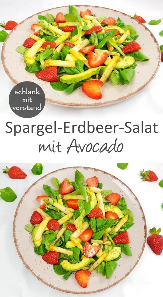 Spargel-Erdbeer-Salat mit Avocado low carb