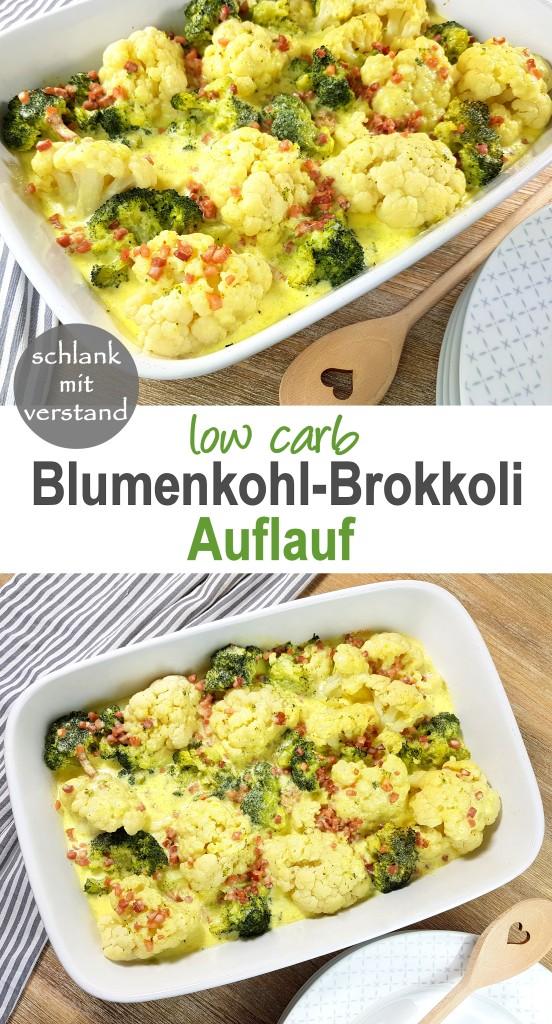 Blumenkohl-Brokkoli-Auflauf low carb