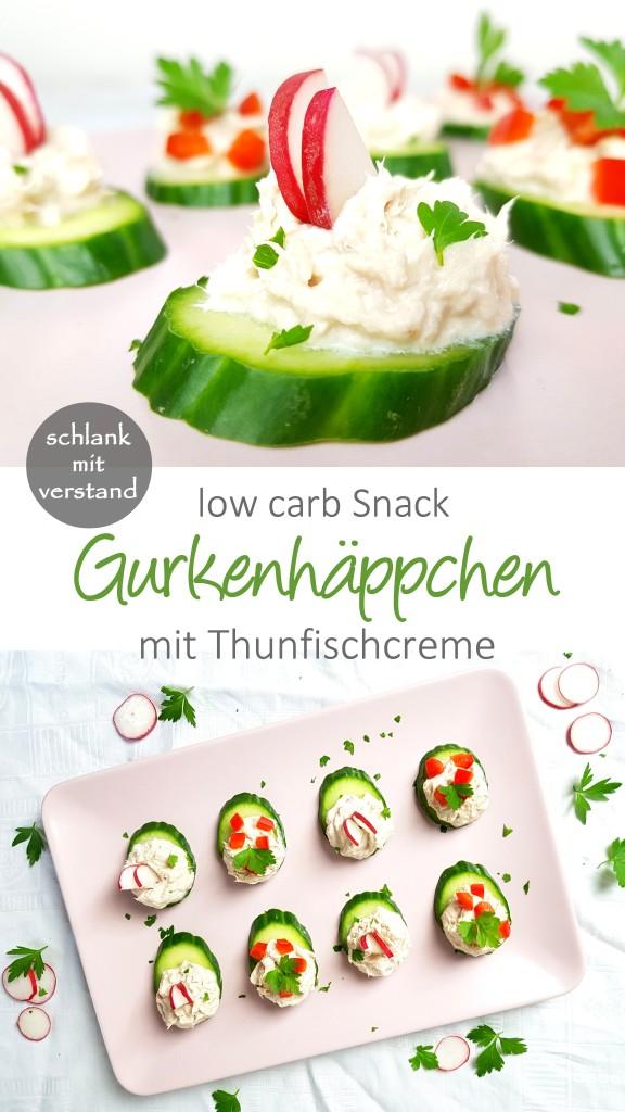 Gurkenhäppchen mit Thunfischcreme low carb
