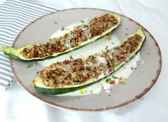 Gefüllte Zucchini vegetarisch Rezept