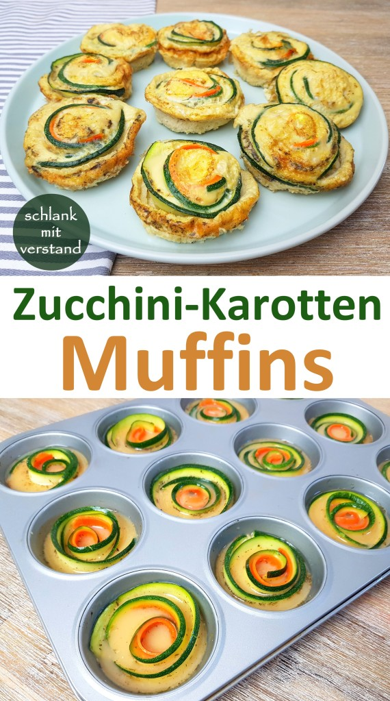Zucchini-Karotten Muffins low carb