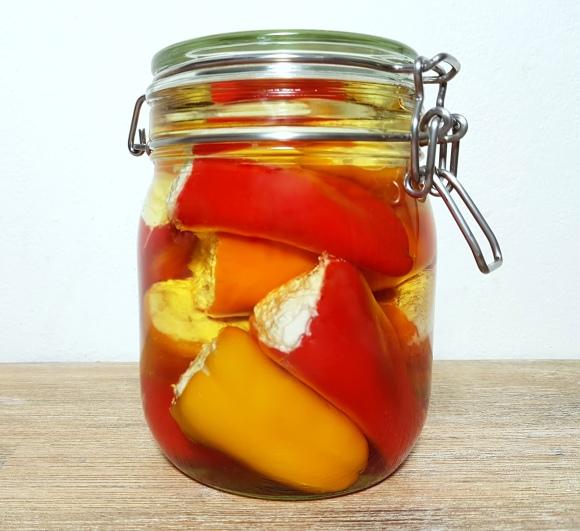 low carb Gefüllte Mini-Paprika einlegen