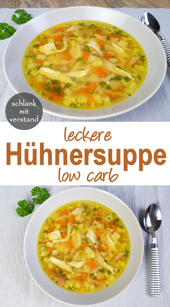 Hühnersuppe low carb Rezept