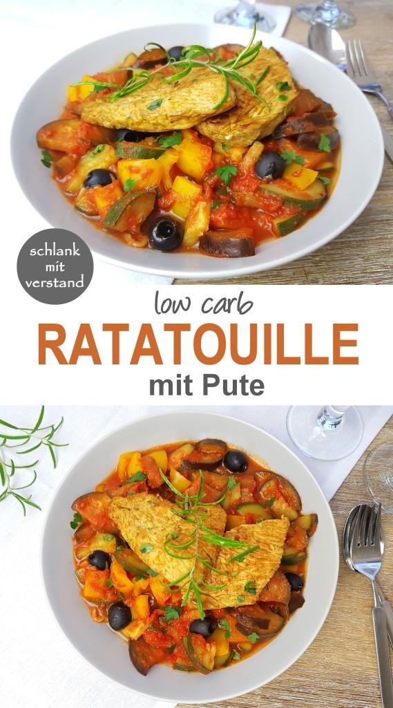 Ratatouille mit Pute low carb
