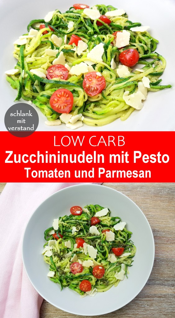 Zucchininudeln mit Pesto low carb