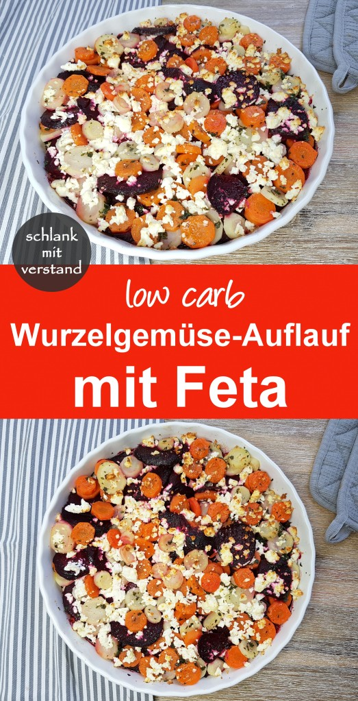 low carb Wurzelgemüse-Auflauf mit Feta