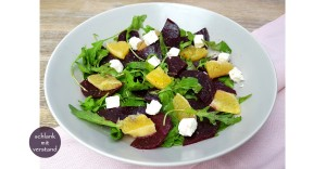 Rote Beete Salat mit Orange und Feta low carb Rezept