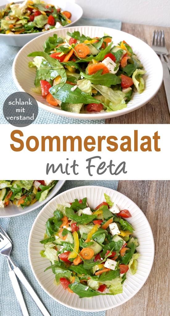 Sommersalat mit Feta