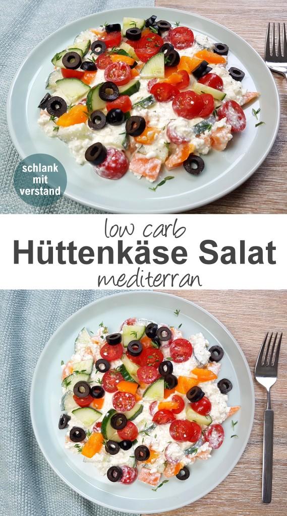 Hüttenkäse Salat mediterran low carb