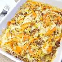 Chinakohl-Auflauf mit Karotten und Hackfleisch low carb