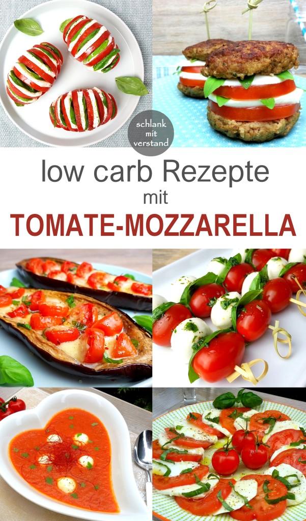 low carb Rezepte mit Tomate-Mozzarella