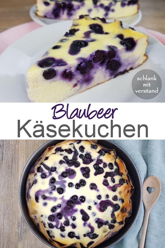 Blaubeer Käsekuchen low carb Rezept