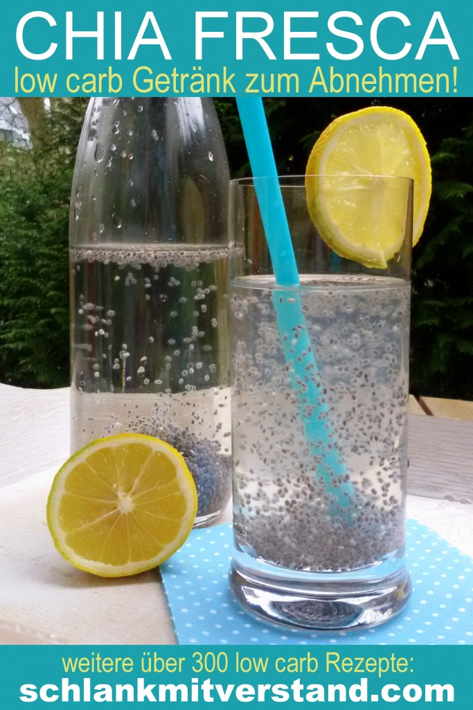 Chia Fresca - low carb Getränk - Rezept zum Abnehmen