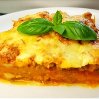 Kürbis Lasagne low carb