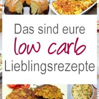 low carb Lieblingsrezepte